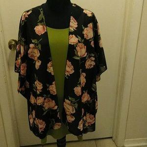 Susan Graver Jackets & Coats - 2for blouse and cape